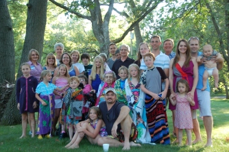 July: Family reunion, Lake George, Minnesota