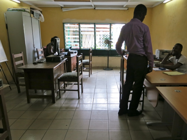 Staff at Alternatives-Cameroun centre in Douala