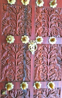 Intricately carved door