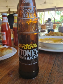 Lunch. A new discovery - Stoney Tangawizi, a most delicious East African ginger beer!