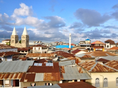 Looking down on the roofs of Stone Town, Zanzibar