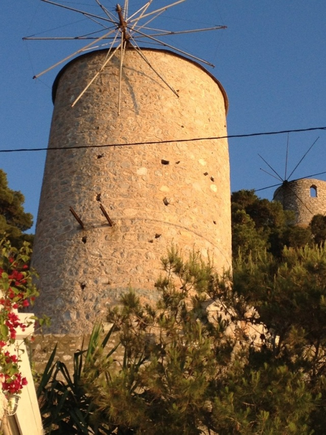 Ancient windmill on Hydra