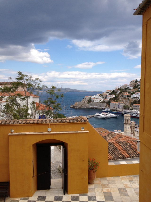 Looking down at Hydra Port, Greece