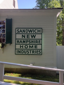 "The League of New Hampshire Craftsmen began in Sandwich as ""Sandwich Home Industries"" in 1920, and continues statewide today"
