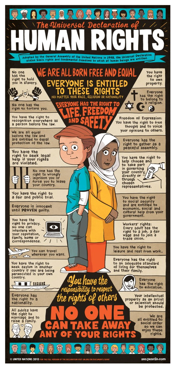universal declaration of human rights the human rights warrior image by zenpencils com