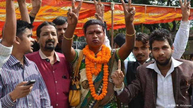 Mahdu Bai Kinner, India's first openly transgender mayor, was elected on January 4