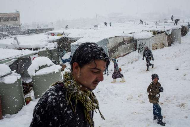 fierce winter storm swept through the Middle East this week bringing icy temperatures, high winds and heavy snow. In Lebanon's Bekaa Valley, more than 400,000 refugees have been enduring freezing conditions since snow levels not seen in many years arrived. Photo ©UNHCR/A.McConnell. Retrieved from UNHCR.org.