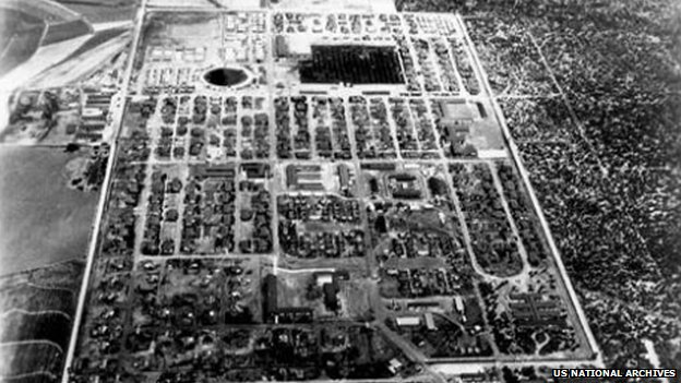 Crystal City Internment Camp was located 180 km (110 miles) south of San Antonio in Texas. Image: US National Archives