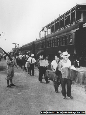Many Japanese-Latin Americans were taken to a camp in the Panama Canal Zone first.  Image: San Francisco History Center
